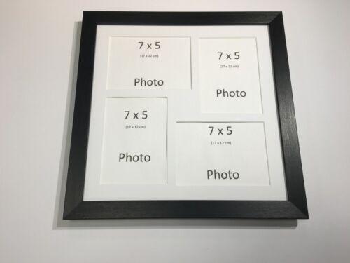 Multi app photo cadre noir-détient 4 x 7/'/'X5/'/' choisir de 4 mount couleurs