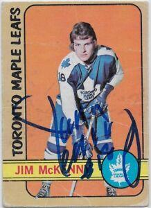 Jim McKenny Signed 1972-73 O-Pee-Chee OPC Card #83 Toronto Maple Leafs