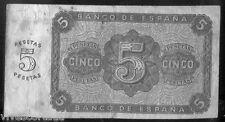 5 Pesetas 10 de Agosto de 1938 Burgos @ Usado @