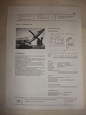 Ddr & Ostalgie Ddr Werbung Reklame Prospekt Datenblatt Universalbagger Ub 75 Veb Nobas 1968 Unterscheidungskraft FüR Seine Traditionellen Eigenschaften Literatur