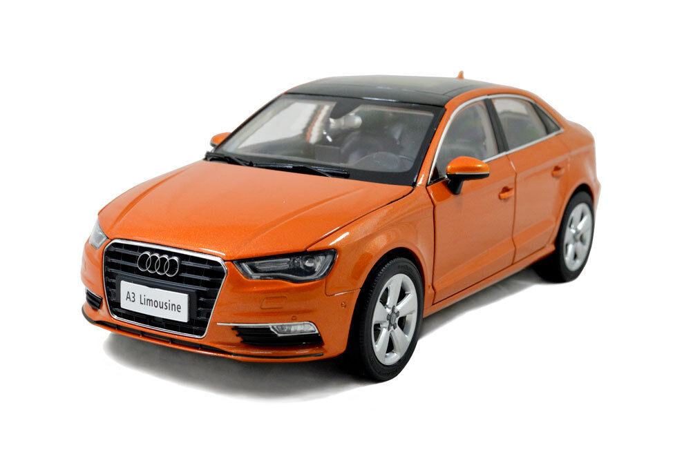 1 18 1 18 Scale Audi A3 Sedan Limousine orange Diecast Model Car Paudimodel