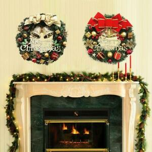 Details About Christmas Wreath Christmas Garland With Battery Operated Led String Lights Chris