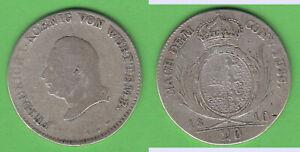 20-Kreuzer-1810-Wuerttemberg-Friedrich-I-mit-Punkt-nach-FUSS-stampsdealer