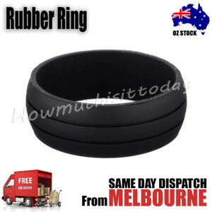 Rubber Silicone Active Ring Outdoor Party Wedding Band 2 Line