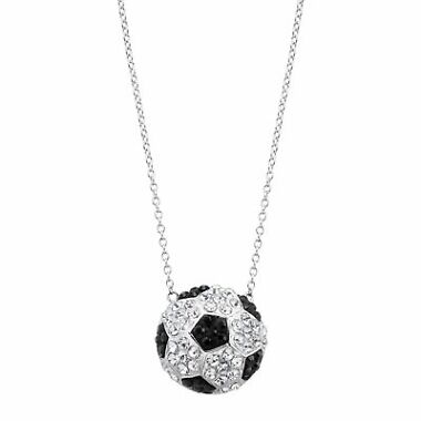 Crystaluxe Soccer Football Team Pendant w/ Swarovski Crystals