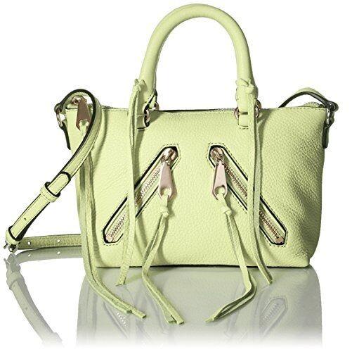 5893c6888 AUTH Rebecca Minkoff Purse Leather Micro Moto Satchel Sm Shoulder Crossbody  Bag