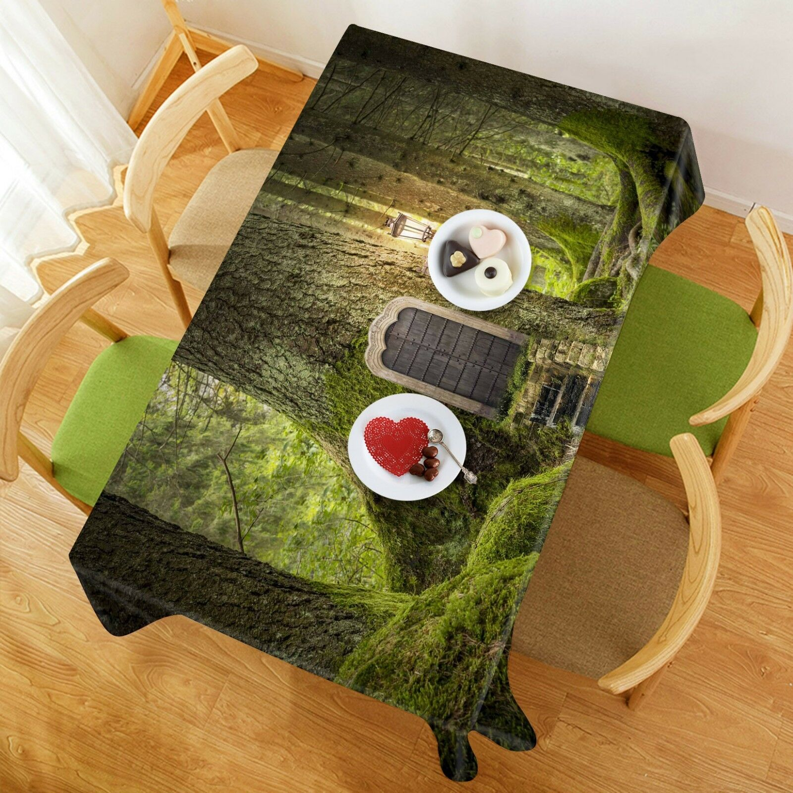 3D vert Trunk Door 0 Tablecloth Table Cover Cloth Birthday Party Event AJ Jenny