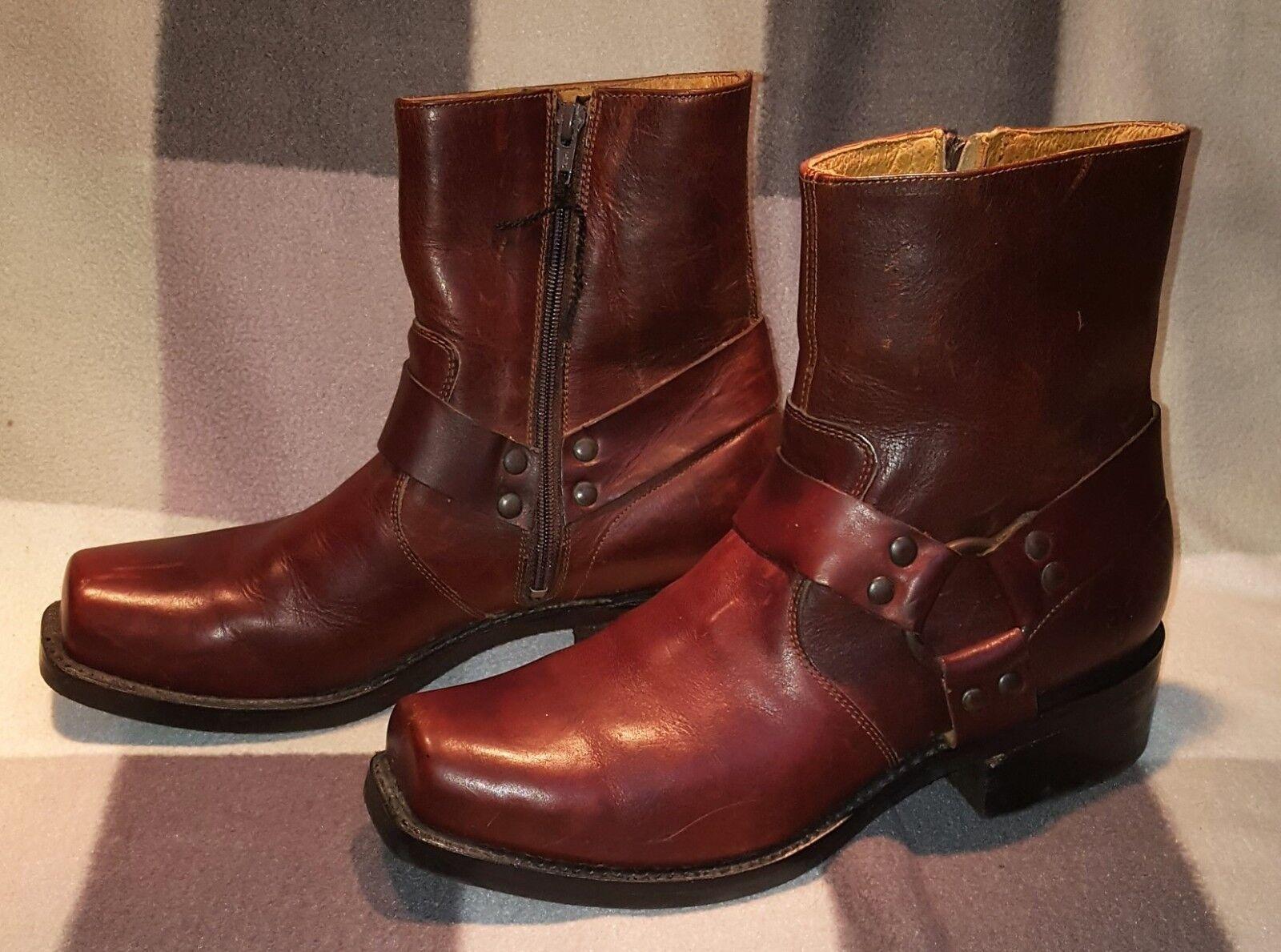 FRYE boots Cowboy Stiefel / Stiefelletten made in Mexico Maße Größe etc. s. scan