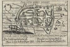 CORK - Irland Kupferstich aus Meisner Schatzkästlein 1678 Original!
