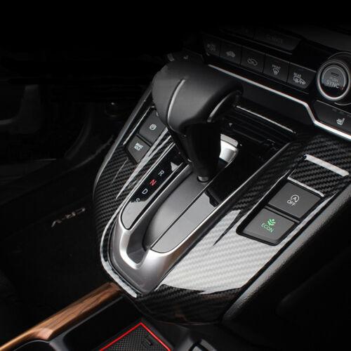 For Honda CRV CR-V 2017 2018 Carbon Fiber Color Interior Gear Shift Panel Cover