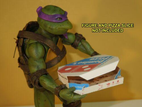 1 Easy Fold dominos Pizza Box pour Neca 7 in Teenage Mutant Ninja Turtles Teenage Mutant Ninja Turtles environ 17.78 cm