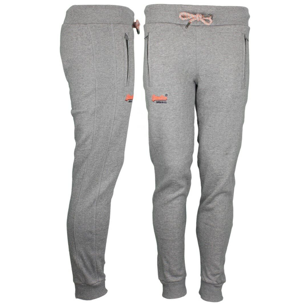 Superdry Sweat Jogging Pants Cali orange Label Grey M70101at Pw8 Grey