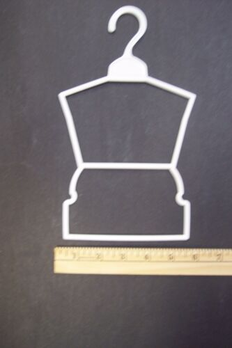 "12 White Plastic Outfit Hangers 1 Dozen made for 18/"" American Girl Doll Clothes"