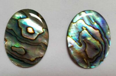 An Abalone shell cabochon oval in red 25x18mm