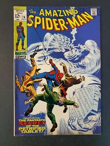 AMAZING-SPIDER-MAN-74-6-0-FN-UNPRESSED-MARVEL-SILVER-COMIC