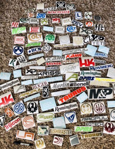 Gun Pistol Rifle Hunting Decal Sticker 30 Pack Lot 9MM 40 451911 Ar S/&W Military