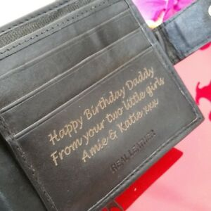 Personalised Engraved Men S Leather Wallet Son Brother Anniversary