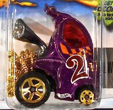 Hot Wheels 125 Hyper Mite, 2002, Purple with Gold Spokes Malaysia Race &Win Mint