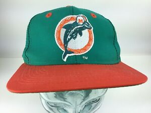 6f32f866e4290 Image is loading Vintage-Miami-Dolphins-SnapBack-Hat-Cap-80s-90s-