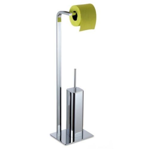 Autoportante chrome poli acier rouleaux de papier toilette et brosse de toilette supportKingston