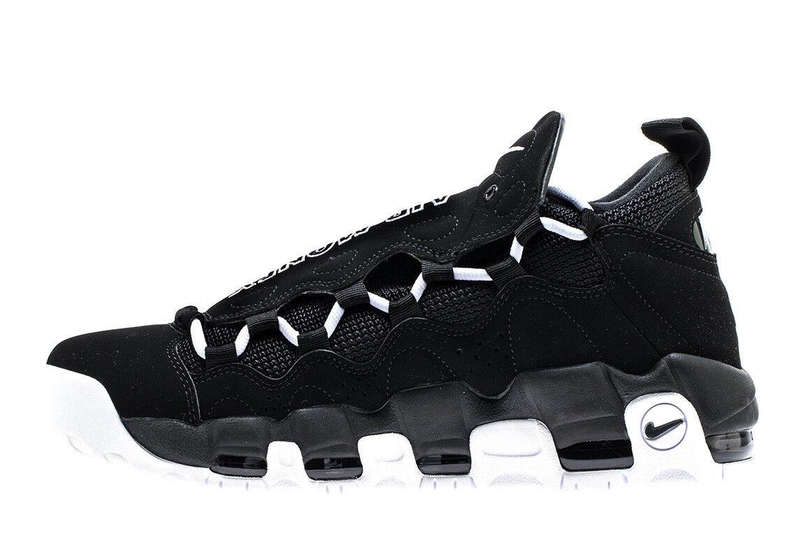 Nike Men's AIR MORE c MONEY Shoes Black/White AJ2998-001 c MORE bdc535
