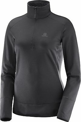 Aufrichtig Salomon Discovery Half-zip Long Sleeve Womens Running Top - Black