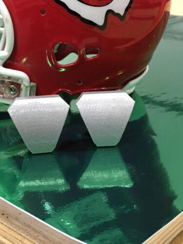 Football Helmet Visor  QUICK-RELEASE Clips Silver FS Helmet