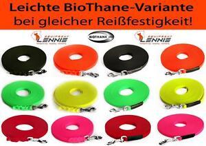 Schleppleine 19mm Beta-Reflex-BioThane® GENÄHT Hundeleine 20 Farben 3-30m