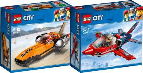Baukästen & Konstruktion LEGO City Raketenauto 60178 60177 Düsenflieger N2/18