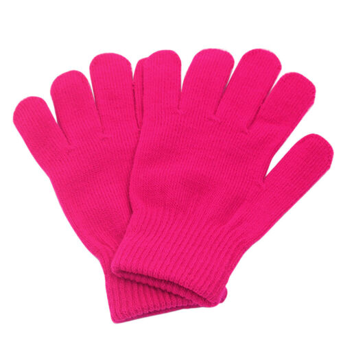 Girl//Boy Kids Warm Knitted Gloves Winter Thick Full Mitten Finger Protector