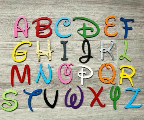3 mm d/'épaisseur Disney de police en bois lettres /& chiffres alphabet lettres /& chiffres