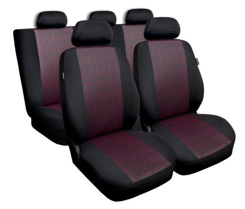 Cubiertas De Asiento De Coche Apto Peugeot 3008-Juego Completo Negro//Rojo