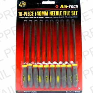 10Pc-QUALITY-NEEDLE-FILE-SET-Deburr-Thin-Small-Large-Square-Round-Wood-Metal