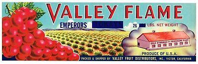 CRATE LABEL VINTAGE FRESNO CALIFORNIA PEACHES C1950 FEDERAL UNCLE SAM PATRIOTIC