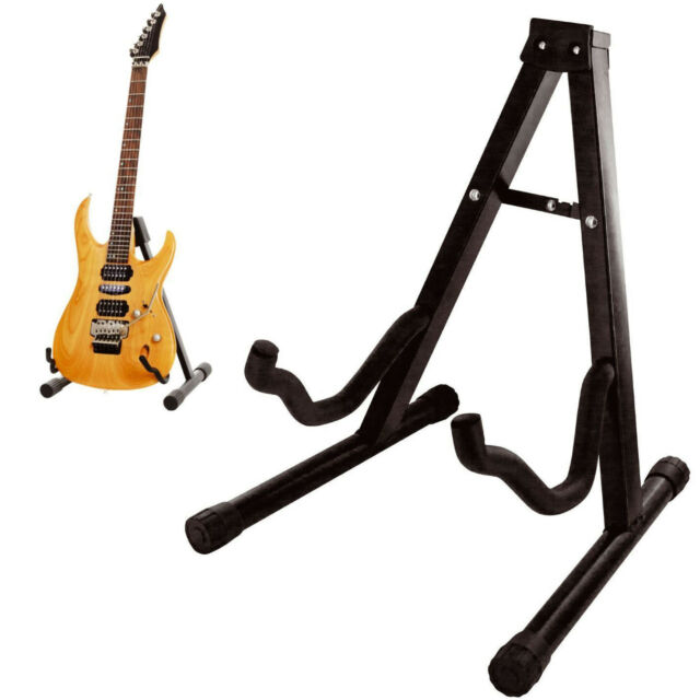 Folding Guitar Stand Foldable A-frame Music Floor Electric Acoustic ...
