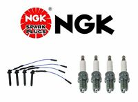 Subaru Baja Forester Impreza Set Of 4 Spark Plugs And Spark Plug Wire Set Ngk