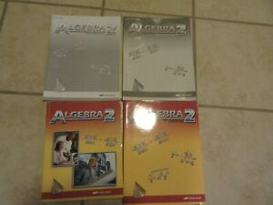 Details about Abeka Algebra 2 SET w/BONUS TESTS 10th Grade 10 Math 2nd Ed  50% OFF!!