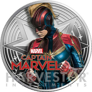 2019-MARVEL-CAPTAIN-MARVEL-1-OZ-SILVER-COIN-WITH-OGP-COA-MINTAGE-1-500