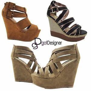 f4f6c2b6af NEW Womans Gladiator Wedge Sandal Open Toe High Heel Women Platform ...