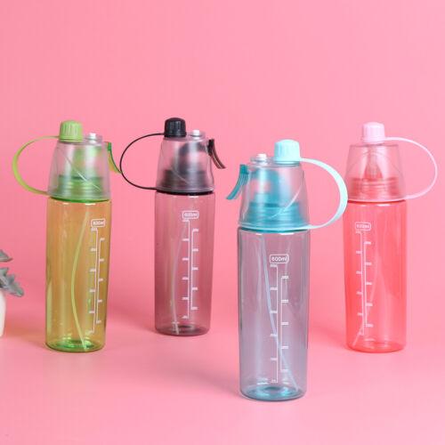 Outdoor Sport Travel Water Drink Bottle Spray Bottle Portable Leak Proof Cup UW