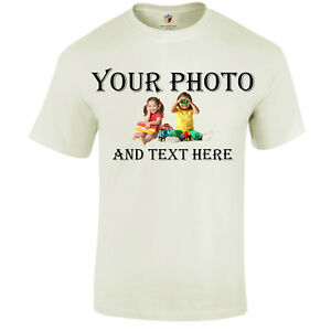Personalised-T-Shirt-Custom-image-photo-Printed-Party-Promotional-Kids-Adult