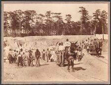 Etats-Unis.  Anthony Floride. C.H. Colby  Transport dans une carrière. Vers 1890