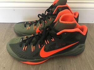 a8ee0a475738 Men s NIKE Hyperdunk 2014 Deepest Green Crimson Basketball Shoes ...