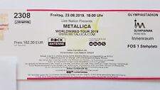 Metallica 23.08.2019 München - Front of Stage FOS 1 - direkt an der Bühne