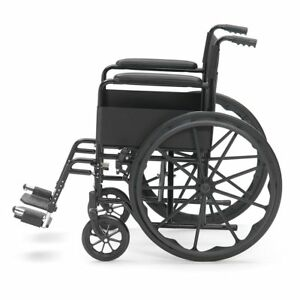 Drive-Black-Sport-Self-Propel-Mobility-Aid-Mag-Wheels-Folding-Steel-Wheelchair