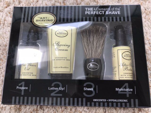 New The Art Of Shaving The 4 Elements Of The Perfect Shave Gift Set Unscented
