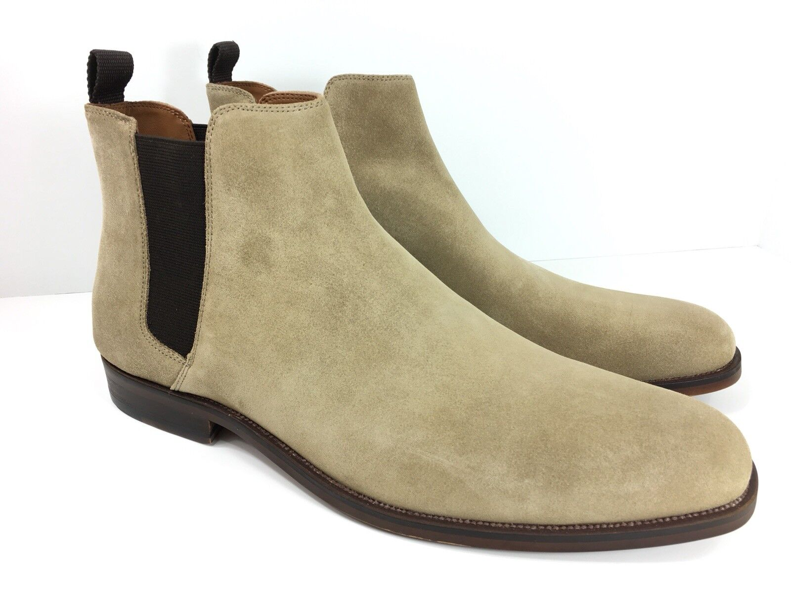 Aldo Men's Astaria Taupe Beige Brown Chelsea Ankle Slip On Boots New