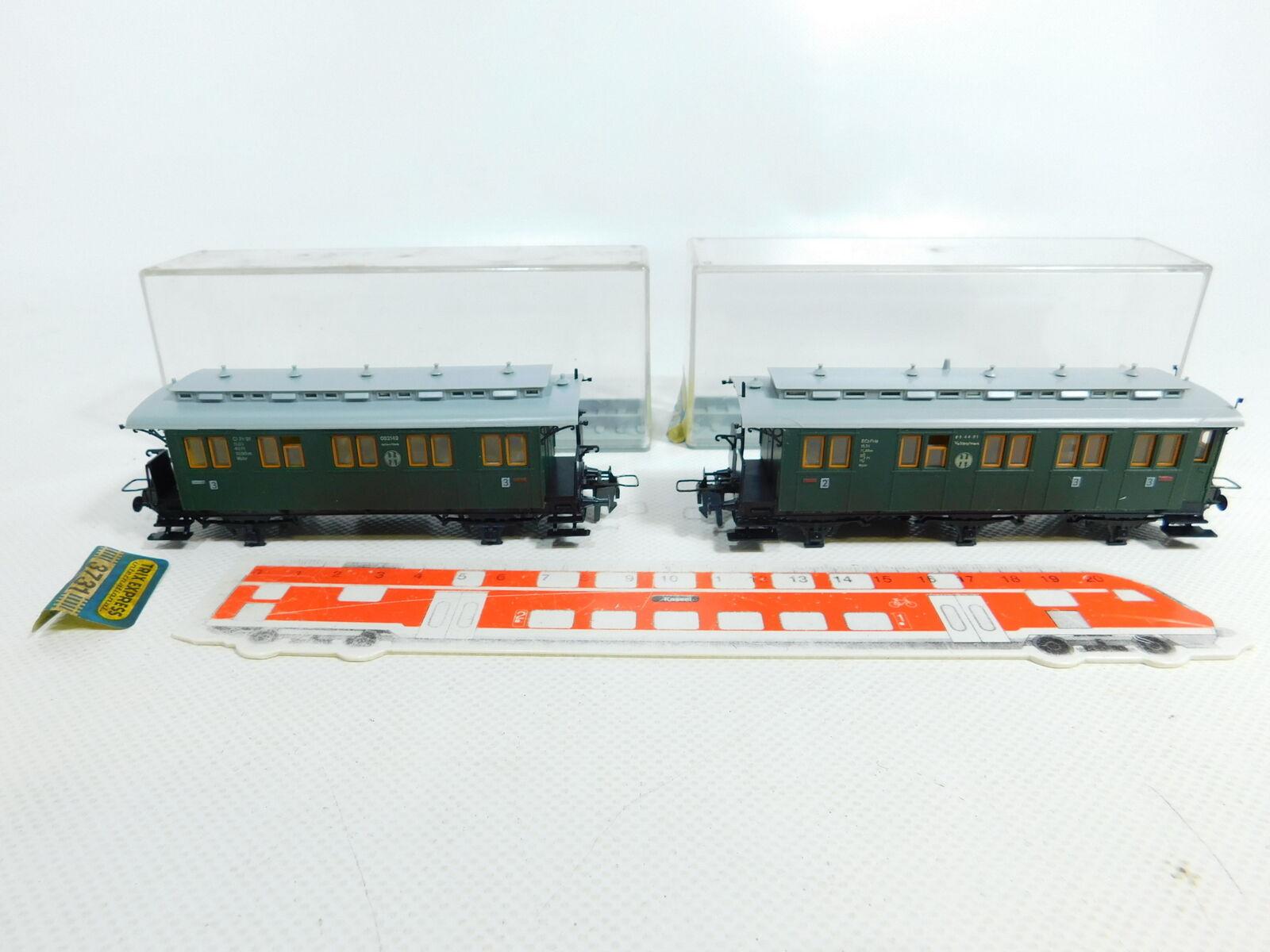 BV911-0,5  2x  Trix H0 Carroza (senza Assi) DRG   2x 3730+3731, Conf. Orig. 373db4
