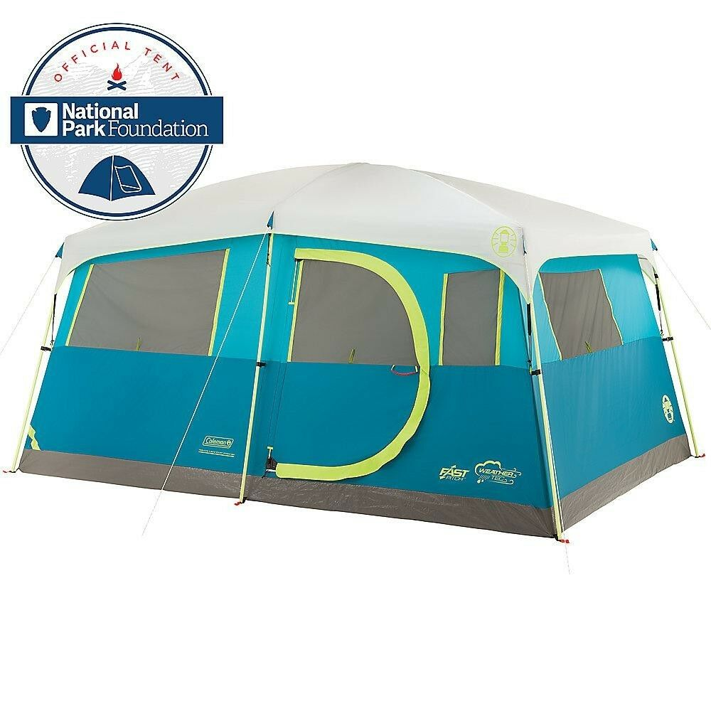 Tenaya Lake 8 Person Cabin Tent Fast Pitch Outdoor Pop-Up Camping with Closet