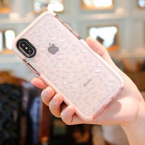 Coque Silicone Motif Diamant pour iPhone 12 mini 11 Pro Max ,XS,MAX,XR,X,8,7,6